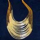Glass Bugle Floating Wave Irregular Multi strand Pattern Crochet Choker Necklace#pn14 or