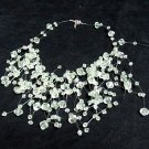 Acrylic Plastic Floating Wave Airy Irregular Multi strand Pattern Crochet Choker Necklace#pn15 gr