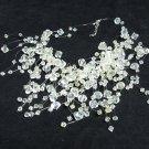 Acrylic Plastic Floating Wave Airy Irregular Multi strand Pattern Crochet Choker Necklace#pn15 Ly