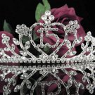 Happy Birthday Sweet 15 Crystal Princess Tiara;Silver Crown Regal #3
