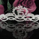 Sweet 15 Crystal Princess Happy Birthday Tiara;Silver Crown Regal #11