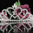 Sweetheart Sweet 16 Crystal Happy Rhinestone Birthday Tiara;Silver Sweetheart Stone Crown Regal #19