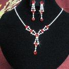 Fashion jewelry necklace set;Bridal Necklace Set;sparkle;Rhinestone Wedding clip Earring set#4224