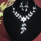 Fashion jewelry necklace set;Bridal Necklace Set;Dangle and drop pin Earring set#5315pu