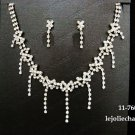 Fashion jewelry necklace set;Bridal Necklace Set;Dangle and drop pin Earring set#760