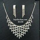 Bridal Necklace Set;Elegance Clip Earring set; Fashion jewelry necklace set #1150