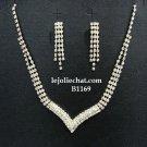 Bridal Necklace Set;Elegance Clip Earring set; Fashion jewelry necklace set #1169