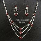 Elegance Clip Earring set; Bridal Necklace Set;Fashion jewelry necklace set #1946r