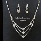 Elegance Clip Earring set; Bridal Necklace Set;Fashion jewelry necklace set #1946s