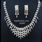 Elegance Clip Earring set; Bridal Necklace Set;Fashion jewelry necklace set #2065