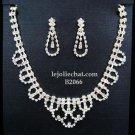 Elegance Clip Earring set; Bridal Necklace Set;Chock Fashion jewelry necklace set #2066