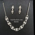 Elegance Clip Earring set; Bridal Necklace Set;Dangle Fashion jewelry necklace set #2341