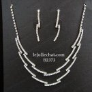 Elegance Clip Earring set; Bridal Necklace Set;Dangle Fashion jewelry necklace set #2373