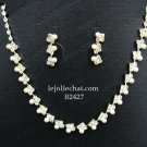 Elegance Clip Earring set; Pearl Bridal Necklace Set;Fashion jewelry necklace set #2427