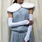 Satin white Bridal Gloves ;fingerless Plain Bride Gloves #120w