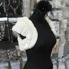 Ivory Faux Fur Shrug Shawl ;Wedding Wrap;Bridal Scarf #sh2