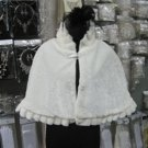 Ivory Faux Fur Shrug Shawl ;Wedding Wrap;Bridal Scarf #sh3
