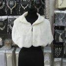 Handmade Ivory Faux Fur Shrug Shawl ;Wedding Wrap;Bridal Scarf #sh6