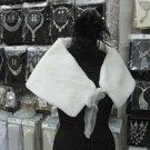 Bridal Faux Fur Shrug : Ivory Shawl Stole ;Wedding Wrap#sh8