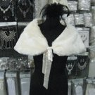 Bridal Faux Fur Shrug : Ivory Shawl Stole ;Wedding Wrap#sh10