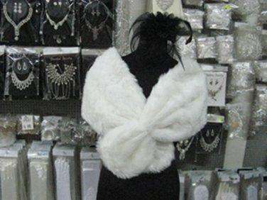 Bridal Faux Fur Shrug : Ivory Shawl Stole ;Wedding Wrap#sh11