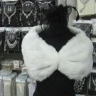 Bridal Faux Fur Shrug : Ivory Shawl Stole ;Wedding Wrap#sh12