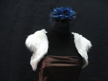 Wedding Sleeve Faux Fur Shawl ;Off white Wedding Bolero Jacket Wrap#sh28i