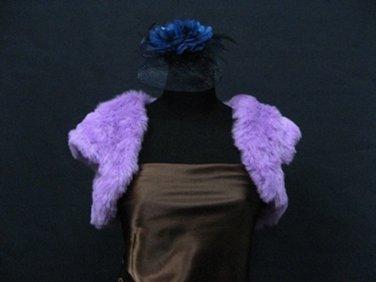 Wedding Sleeve Faux Fur Shawl ;Purple Wedding Bolero Jacket Wrap#sh28pu