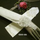 Finger-less Ivory Bridal Gloves ;Elbow satin lace Bride Gloves #68i