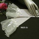 Ivory Bridal Gloves ;Organza Crochet Cute bow Bride Gloves #5i