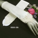 French lace Pearl Bridal Gloves ;satin ivory finger-less Bride Gloves #59i