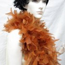 70g Turkey Feather Fringe ;Coque Rooster fluffy Thick Marabou feather boa #f70bred