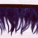Handmade Turkey feather fringe; fluffy purple marabou Feather boa #Ff24