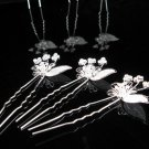 3 PCS BRIDAL HAIRPIN;SILVER SPARKLE WEDDING HAIR PIN #1790