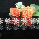 6 PCS BRIDAL HAIRPIN;SILVER SPARKLE DAISY WEDDING HAIR PIN #1285