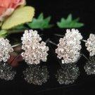 6 PCS BRIDAL HAIRPIN;SILVER SPARKLE DAISY WEDDING HAIR PIN #1292