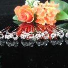6 PCS BRIDAL HAIRPIN;SILVER SPARKLE CUTE BOW WEDDING HAIR PIN #1295