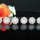 6 PCS BRIDAL HAIRPIN;SILVER SPARKLE DAISY WEDDING HAIR PIN #1430