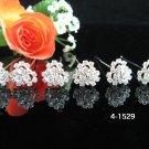 6 PCS BRIDAL HAIRPIN;SILVER CRYSTAL WEDDING HAIR PIN #1529