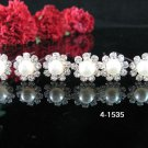 6 PCS BRIDAL HAIRPIN;SILVER CRYSTAL PEARL WEDDING HAIR PIN #1535