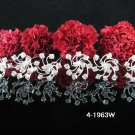 6 PCS BRIDAL HAIRPIN;SILVER WHITE CRYSTAL WEDDING HAIR PIN #1963W