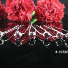 6 PCS BRIDAL HAIRPIN;SILVER purple CRYSTAL WEDDING HAIR PIN #1978pu