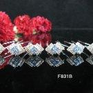 6 PCS BRIDAL HAIRPIN;SILVER CRYSTAL RUBY BLUE WEDDING HAIR PIN #831b