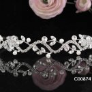 Fancy Crystal Rhinestone Bridal Tiara ;Sparkle Beautiful Silver Wedding Tiara; Bride Regal#874