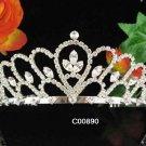 Elegance Crystal Rhinestone Bridal Tiara ;Sparkle Beautiful Silver Wedding Tiara; Bride Regal#890