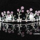 Sparkle Beautiful Silver Wedding Tiara;Elegance Crystal Rhinestone Bridal Tiara ; Bride Regal#903pu