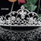 Sparkle Beautiful Silver Wedding Tiara;Elegance Crystal Rhinestone Bridal Tiara ; Bride Regal#1006