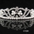 Sparkle Beautiful Silver Wedding Tiara;Elegance Crystal Rhinestone Bridal Tiara ; Bride Regal#1530