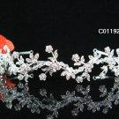 Sparkle Beautiful Silver Wedding Tiara;Elegance Crystal Rhinestone Bridal Tiara ; Bride Regal#1192