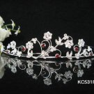 Sparkle Beautiful Silver Wedding Tiara;Elegance Crystal Rhinestone Bridal Tiara ; Bride Regal#531